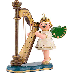 Angels Orchestra (Hubrig) Angel with Harp - 6,5 cm / 2,5 inch