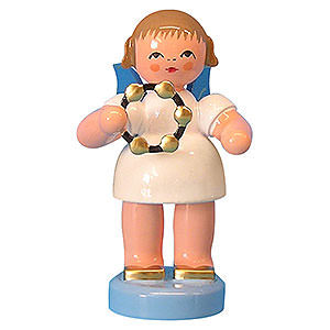 Angels Angels - blue wings - small Angel with Jingle Ring - Blue Wings - Standing - 6 cm / 2,3 inch