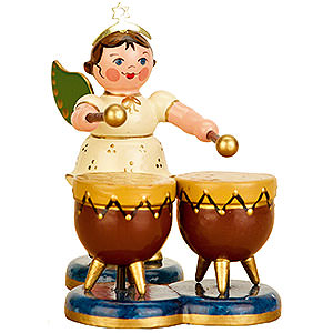 Angels Orchestra (Hubrig) Angel with Kettle Drum - 6,5 cm / 2,5 inch