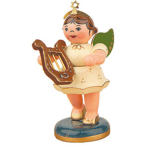 Angels Orchestra (Hubrig) Angel with Lute - 6,5 cm / 2,5 inch