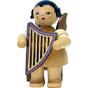 Angels Angels - natural - small Angel with Lyre - Natural - Sitting - 5 cm / 2 inch
