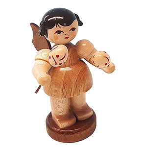 Angels Angels - natural - small Angel with Maracas - Natural Colors - Standing - 6 cm / 2.4 inch