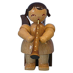 Angels Angels - natural - small Angel with Oboe - Natural Colors - Sitting - 5 cm / 2 inch