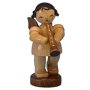 Angels Angels - natural - small Angel with Oboe - Natural Colors - Standing - 6 cm / 2,3 inch