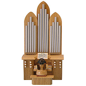 Angels Angels - natural - small Angel with Organ with Musical Mechanism