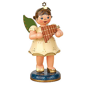 Angels Angels - white (Hubrig) Angel with Pan Flute - 10 cm / 4 inch