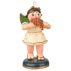 Angels Orchestra (Hubrig) Angel with Pan Flute - 6,5 cm / 2,5 inch