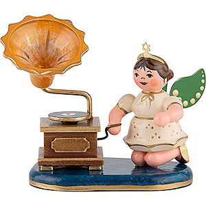 Angels Orchestra (Hubrig) Angel with Phonograph - 6,5 cm / 2 inch