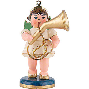 Angels Orchestra (Hubrig) Angel with Tenor Horn - 6,5 cm / 2,5 inch
