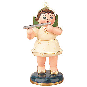 Angels Orchestra (Hubrig) Angel with Transverse Flute - 6,5 cm / 2,5 inch