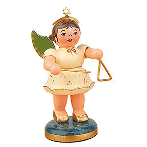 Angels Orchestra (Hubrig) Angel with Triangle - 6,5 cm / 2,5 inch