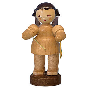 Angels Angels - natural - small Angel with Triangle - Natural Colors - Standing - 6 cm / 2,3 inch