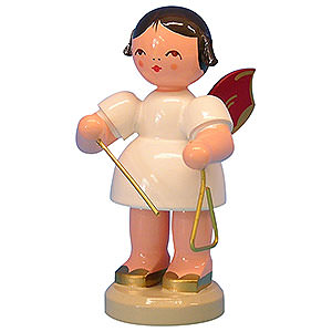 Angels Angels - red wings - large Angel with Triangle - Red Wings - Standing - 9,5 cm / 3,7 inch