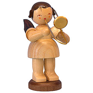 Angels Angels - natural - large Angel with Trombone - Natural Colors - Standing - 9,5 cm / 3,7 inch