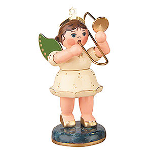 Angels Orchestra (Hubrig) Angel with Trumpet - 6,5 cm / 2,5 inch