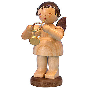 Angels Angels - natural - large Angel with Trumpet - Natural Colors - Standing - 9,5 cm / 3,7 inch