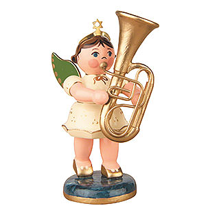 Angels Orchestra (Hubrig) Angel with Tuba - 6,5 cm / 2,5 inch