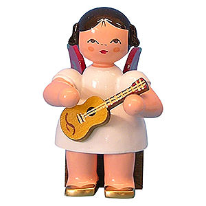 Angels Angels - red wings - small Angel with Ukulele - Red Wings - Sitting - 5 cm / 2 inch