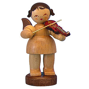 Angels Angels - natural - small Angel with Violin - Natural Colors - Standing - 6 cm / 2,3 inch