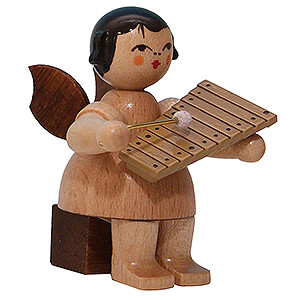 Angels Angels - natural - small Angel with Xylophone - Natural Colors - Sitting - 5 cm / 2 inch