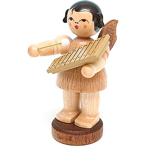 Angels Angels - natural - small Angel with Xylophone - Natural Colors - Standing - 6 cm / 2.4 inch