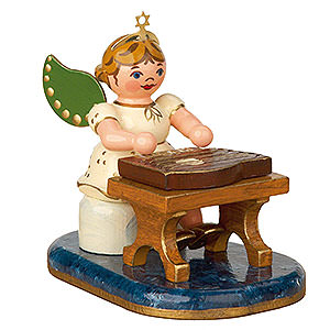 Angels Orchestra (Hubrig) Angel with Zither - 6,5 cm / 2,5 inch