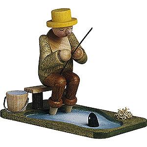 Kleine Figuren & Miniaturen Günter Reichel Figuren vom Lande Angler am Teich - 6,5 cm
