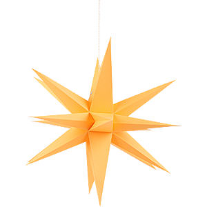 Advent Stars and Moravian Christmas Stars Annaberg Folded Stars Annaberg Folded Star for Indoor Orange - 58 cm / 22.8 inch