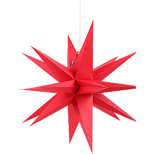 Advent Stars and Moravian Christmas Stars Annaberg Folded Stars Annaberg Folded Star for Indoor Red - 35 cm / 13.8 inch