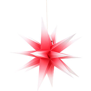 Advent Stars and Moravian Christmas Stars Annaberg Folded Stars Annaberg Folded Star for Indoor Red-White - 58 cm / 22.8 inch