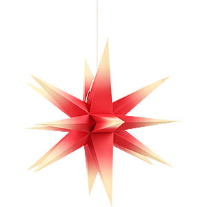 Advent Stars and Moravian Christmas Stars Annaberg Folded Stars Annaberg Folded Star for Indoor Red-Yellow - 58 cm / 22.8 inch