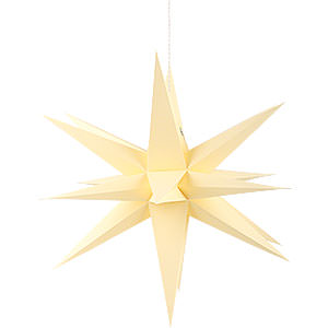 Advent Stars and Moravian Christmas Stars Annaberg Folded Stars Annaberg Folded Star for Indoor Yellow - 35 cm / 13.8 inch