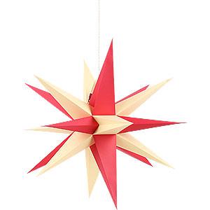 Adventssterne und Weihnachtssterne Annaberger Faltsterne Annaberger Faltstern für Innen mit rot-gelben Spitzen - 58 cm