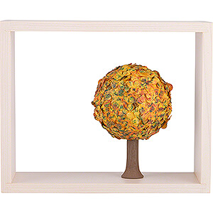 Angels Flade Flax Haired Angels Apple Tree in Frame - without  Figurines - Autumn - 13,5 cm / 5.3 inch