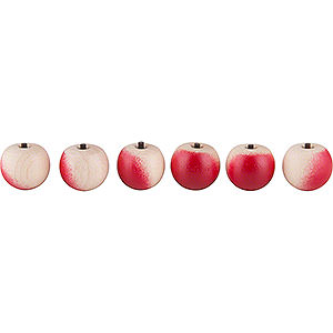 Small Figures & Ornaments Näumanns Wicht Apples - 6 Pieces - without Hook - 2 cm / 1 inch