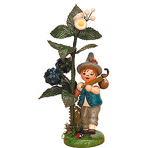 Small Figures & Ornaments Hubrig Autumn Kids Autumn Child Blackberry - 13 cm / 5 inch