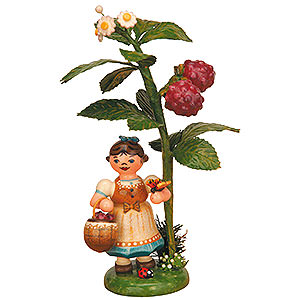 Small Figures & Ornaments Hubrig Autumn Kids Autumn Child Raspberry - 13 cm / 5 inch