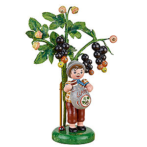 Small Figures & Ornaments Hubrig Autumn Kids Autumn Children Figure of the Year 2017 Black Currant - 13 cm / 5.1 inch