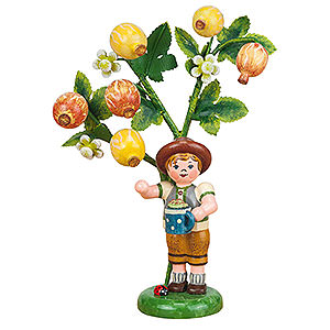 Small Figures & Ornaments Hubrig Autumn Kids Autumn Kids Figure of the Year 2015 Gooseberry - 13 cm / 5,1 inch
