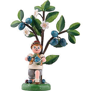 Small Figures & Ornaments Hubrig Autumn Kids Autumn Kids Figure of the Year 2019 Plum - 13 cm / 5.1 inch