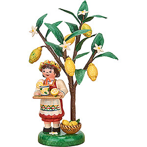 Small Figures & Ornaments Hubrig Autumn Kids Autumn Kids Figure of the Year 2020 Lemon - 13 cm / 5.1 inch