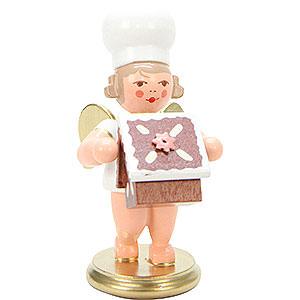 Weihnachtsengel Bäckerengel (Ulbricht) Bäckerengel mit Pfefferkuchenhaus - 7,5 cm