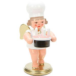 Weihnachtsengel Bäckerengel (Ulbricht) Bäckerengel mit Torte - 7,5 cm