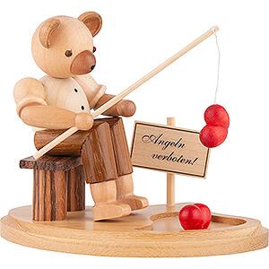Kleine Figuren & Miniaturen Tiere Bären Bär Angler am Teich - 10 cm