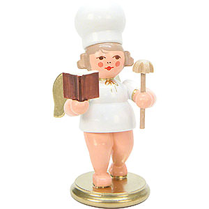Weihnachtsengel Bäckerengel (Ulbricht) Bäckerengel mit Backbuch - 7,5 cm
