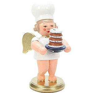 Weihnachtsengel Bäckerengel (Ulbricht) Bäckerengel mit Baumkuchen - 7,5 cm
