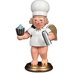 Weihnachtsengel Bäckerengel (Ulbricht) Bäckerengel mit Cupcake - 7,5 cm