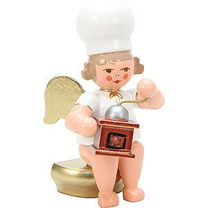 Weihnachtsengel Bäckerengel (Ulbricht) Bäckerengel mit Kaffeemühle - 7,5 cm