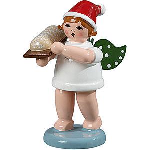 Weihnachtsengel Bäckerengel (Ellmann) Bäckerengel mit Mütze und Stollen - 6,5 cm