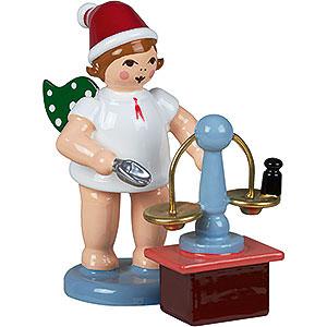 Weihnachtsengel Bäckerengel (Ellmann) Bäckerengel mit Mütze und Waage - 6,5 cm